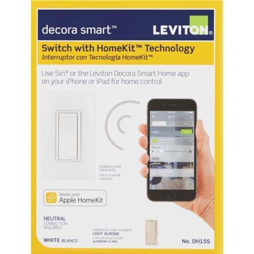 2-Leviton Decora Smart 15A Rocker Switch With HomeKit Technology R01-DH15S-1RZ