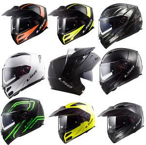 LS2-FF324-METRO-EVO-DUAL-VISOR-FLIP-FRONT-MOTORCYCLE-ADVENTURE-FULL-FACE-HELMET
