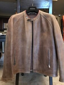 4904a93f3 Image is loading Gucci-Mens-Leather-Jacket-Custom-Made-Special-Leather-