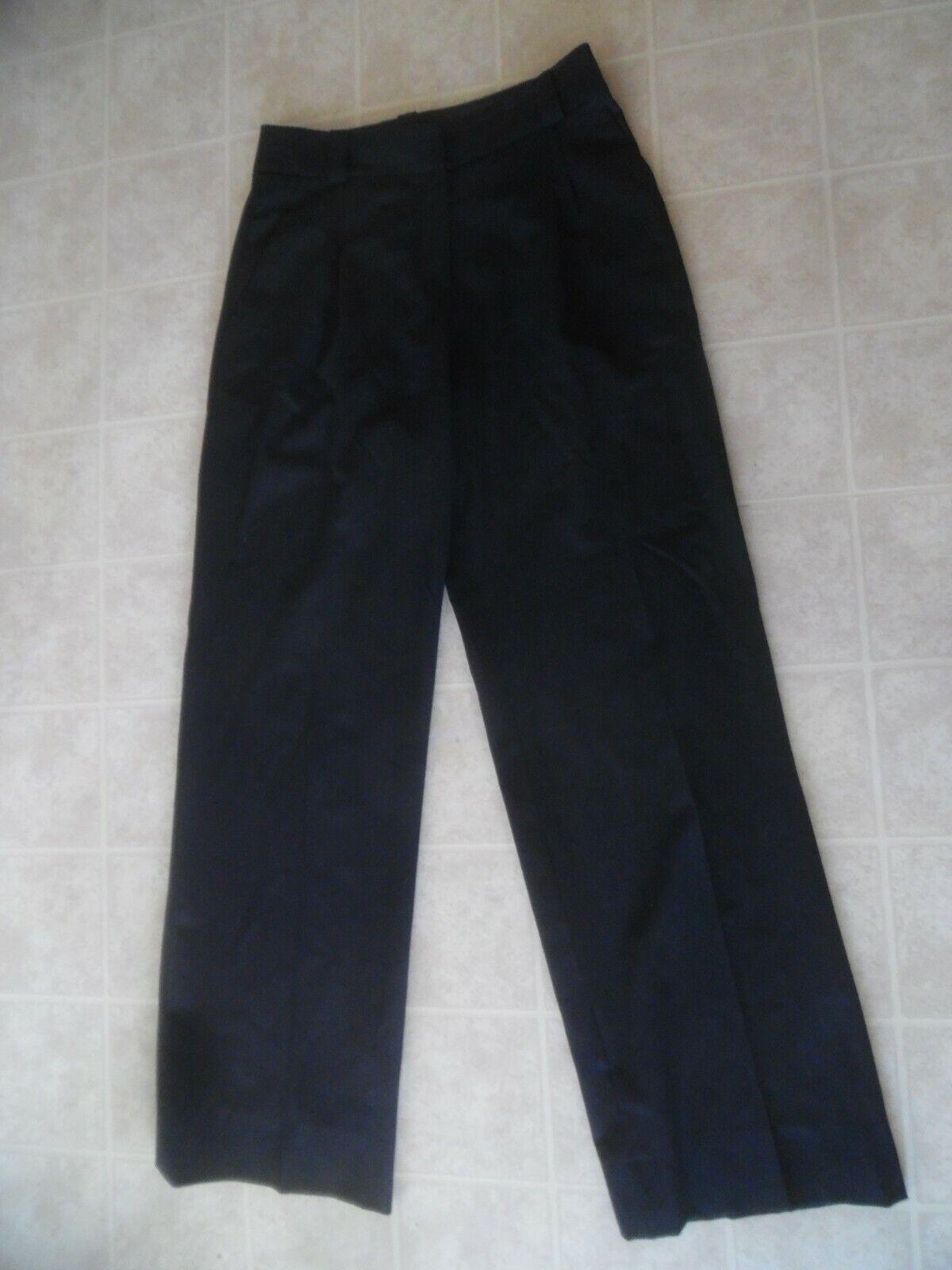 Giorgio Armani Dress Pants Wool Women Sz 40 Charcoal Straight Leg