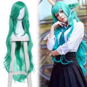 Lol Soraka Star Guardian Green Bangs Long Wavy Wave Curly Cosplay