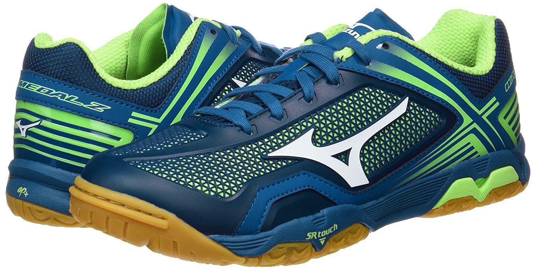 Nuevo Zapatos tenis de Mesa Mizuno Wave Medal Z 81Ga1710 Azul Marino verde de Japón