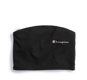 Champion Life Tube Top Women Script Logo Elastic TopBottom Stretch Cotton Black