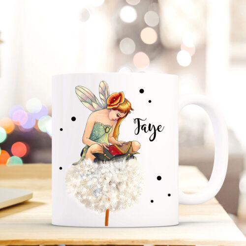 Tasse Becher Elfe Fee Pusteblume Name Wunschname Kaffeetasse Kaffeebecher ts781