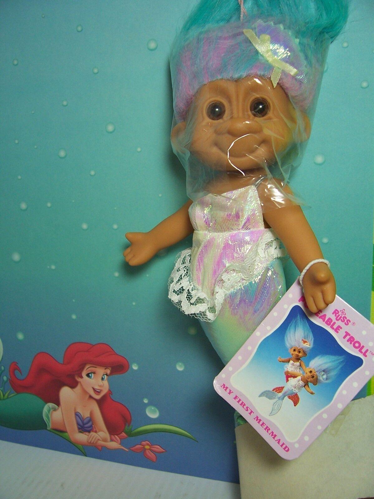 AQUA HANG HANGING MERMAID WITH HANG AQUA TAG - 9  Russ Troll Doll - NEW - Last Of Farbe bdb048
