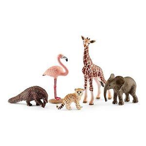 NEW-SCHLEICH-42388-Assorted-Wild-Life-Elephant-Giraffe-Pangolins-Flamingo-Cheeta