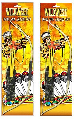 KIDS PLAY BOW AND ARROW JUNIOR TOY SET ARCHERY COWBOYS INDIANS WILD WEST GARDEN