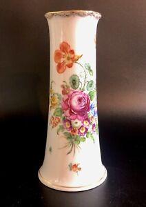 Antique-Dresden-Porcelain-Floral-Vase-By-Richard-Klemm-Early-20c