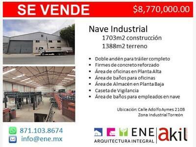 Nave en Venta en Zona Industrial de Torreón