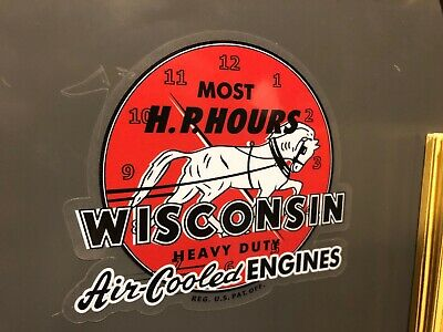 Wisconsin Engine Orange And White Decals More Horsepower Hours Set Two