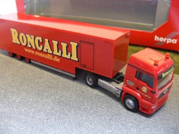 1 87 Herpa MAN TGA LX Roncalli Jumbokoffer-Sattelzug 304658