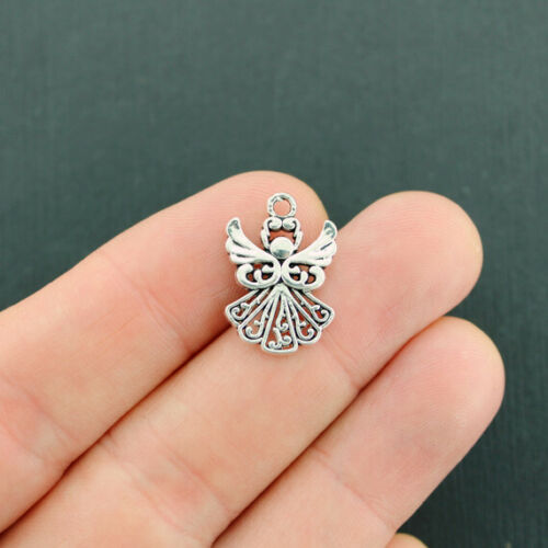 SC5226 BULK 40 Angel Charms Antique Silver Tone Beautifully Detailed