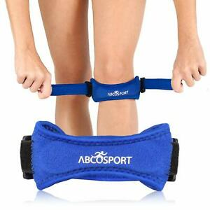 Abco Tech Patella Knee Strap Knee Pain Relief for Hiking Soccer Adjustable Blue