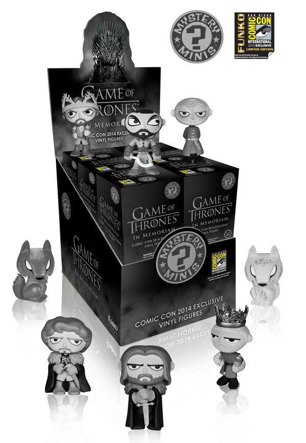 FUNKO Game of Thrones Mystery Mini Series 12 Pack In Memoriam Set CASE SDCC 2014
