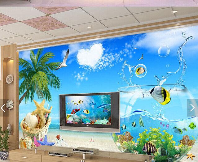 3D Strand Himmel Koko 59 Tapete Tapeten Mauer Foto Familie Tapete Wandgemälde DE