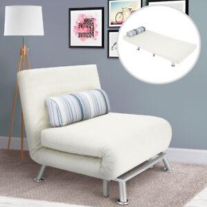 poltrona divano letto 1 posto singolo in ferro e cotone