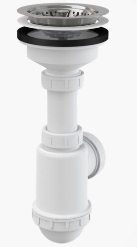 Spültisch Siphon Universal DN115 Spülbecken Spülmaschinenanschluss Sifon Ablauf