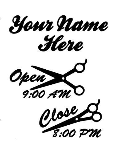 Custom Business Store Hours Sign Vinyl Decal Sticker 11 x 14 Window Door Glass