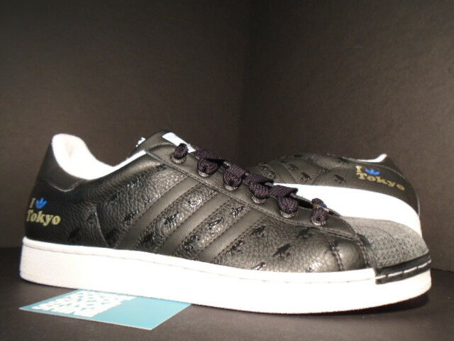 2005 ADIDAS SUPERSTAR II 2 CITY VE I LOVE TOKYO BLACK WHITE GOLD BLUE 132313 13