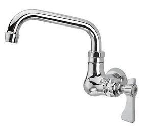 Krowne Metal Royal 12 Swing Spout Faucet Wall Mount Single Hole Low