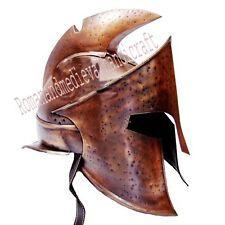 MEDIEVAL KING LEONIDAS HELMET SPARTAN HELMET 300 MOVIE HELMET+FREE LINER LARP