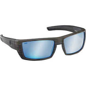 b5ba5b41ea Costa Del Mar Rafael RFL 110 Matte Olive Teak Square Sunglasses Blue 580p