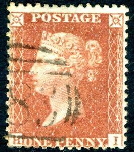 1856 1d Red-Brown HI C8A Plate 135 Sg 37 FINE USED V16237