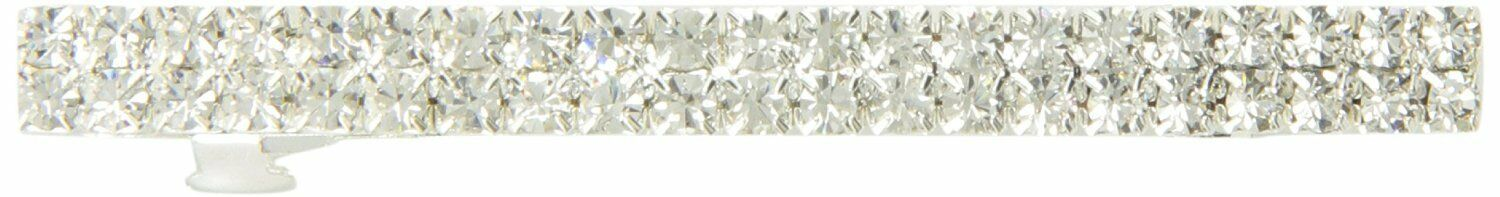 Caravan Automatic Barrette Decorated with Crystal Clear Rhinestone Classic Style