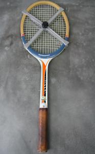 ZENTRASPORT-Holz-Tennisschlager-RETRO-MATCH-international-60er-70er-fibre-sealed
