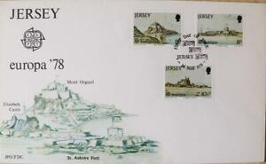 Jersey-Stamps-Europa-039-78-034-Jersey-Monuments-034-First-Day-Cover-1978