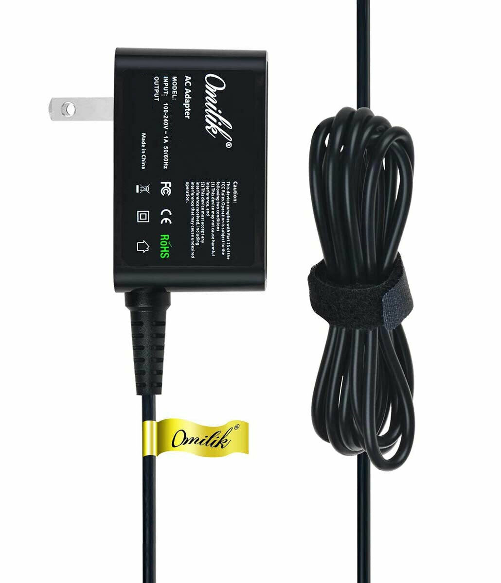 OmiLik 5V AC Adapter Cable Charger for Coby Kyros 7