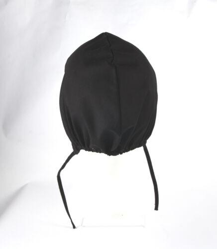 RE-ENACTMENT COTTON MEDIEVAL LIGHT HAT CAP BONNET black white sizes