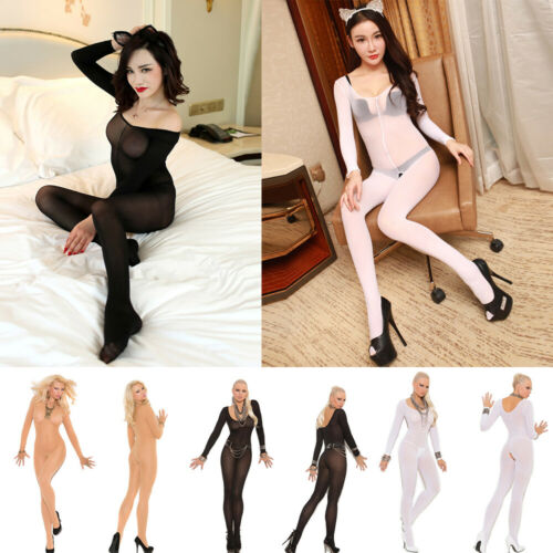 Women Body stockings Open Crotch Bodysuit Transparent Leotard Costumes Bodyhose