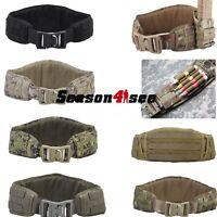 Tactical Molle Modular Padded Contoured Shape Battle Belt Hunting Waist Belt