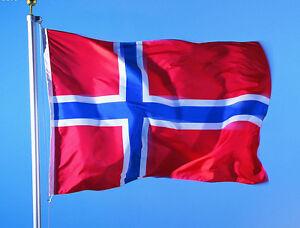 3x5-FT-90-150cm-Norway-Norwegian-Printed-Polyester-Brass-Grommets-National-Flag