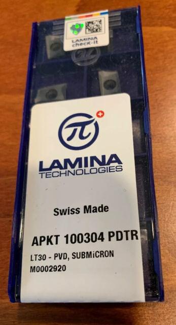 20 pcs original LAMINA Inserts APKT 100308PDTR LT30 NEW!!