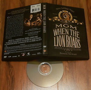 352-MGM-When-the-Lion-Roars-1992-Patrick-Stewart-Single-Disc-DVD-Rare-OOP