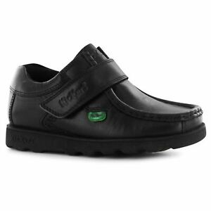 Kickers-Kids-Fragma-Strap-Childs-Shoes-Moc-Toe-Padded-Ankle-Collar-Touch-and
