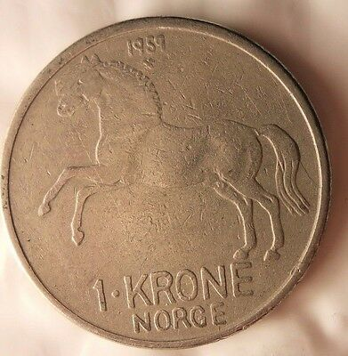 Norway Bin #4 FREE SHIPPING Excellent Vintage Coin 1959 NORWAY 5 ORE