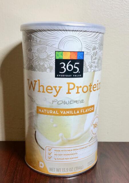 365 Vanilla Whey Protein Powder 13 7 oz exp 20/20