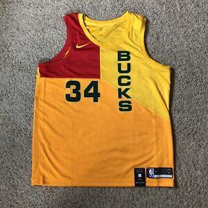 lowest price 10d5f f694e Details about 🚨Nike XL Milwaukee Bucks Giannis Antetokounmpo City Edition  Jersey AJ4624-717