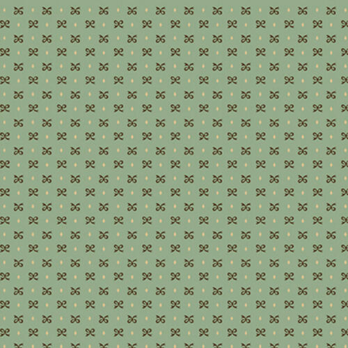 Sage /& Sea Glass by Kim Diehl Cotton Quilt Fabric Bitty Bows Blue Style 1538//11