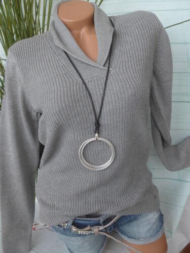 MAGLIA da Donna Pullover Maglione Olsen manica lunga tg 153 tono grigio 36-48