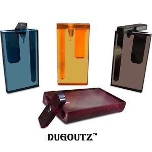 AMBER-See-Thru-Translucent-Dugout-Tobacco-Smoking-Pipe-Kit-Metal-Cigarette-Bat