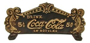 VIntage-Look-Rustic-Cast-Iron-Coca-Cola-Coke-Cash-Register-Topper-Sign-Plaque