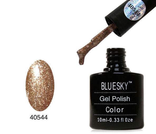 BLUESKY 80544 TINSEL TOAST UV/LED SOAK OFF GEL NAIL POLISH 10ML FREE P/P