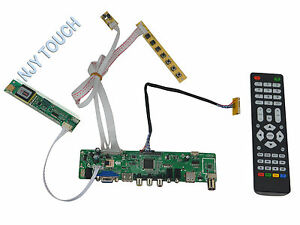 hdmi usb av vga tv pc universal lcd led screen controller board diy monitor kit 638317117762 ebay. Black Bedroom Furniture Sets. Home Design Ideas