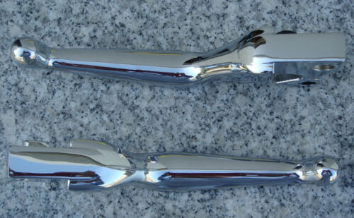 Harley Davidson Sportster Softail Dyna Glide Road King CHROME WIDE LEVERS