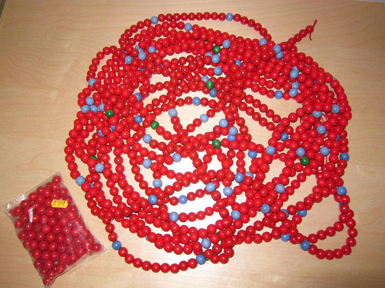 Arbeitsmaterial Tausenderkette Mathe 3 rot aus Holzkugelperlen rot 3 14mm 532cba