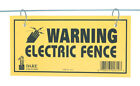 Dare Products Electric Fence Warning Sign 3 Yellow 1614-3